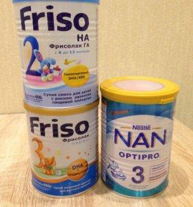 Детские смеси Фрисолак 3, ГА2, NAN Optipro 400гр