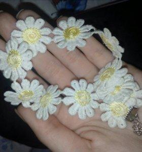 Чокер цветочки