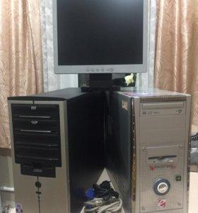Продам два системных блока и один монитор