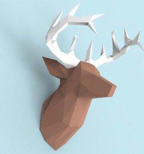 3D голова оленя (набор)