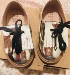 Туфли на девочку фирмы Zara 20 размер