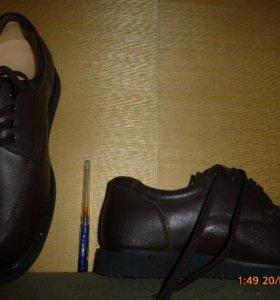 ботинки муж, р.42-42,5 на шир.ногу с орто-стелькой