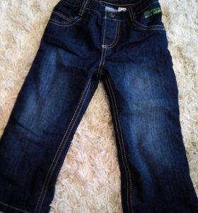 Утепленные джинсы 86р