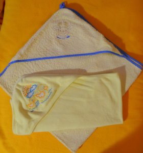 Детские полотенца с капюшоном от 0.