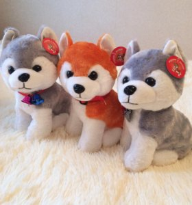 Мягкая игрушка собака «Хаски»