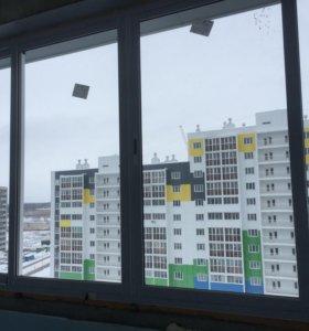 Балконная раздвижная рама новая