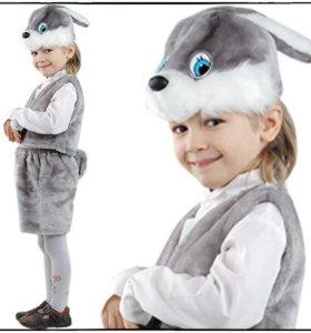 детский новогодний костюм Заяц серый