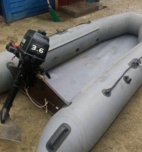Лодка fling с мотором