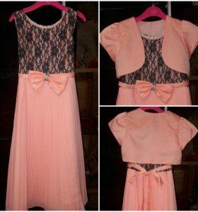 Нарядное платье для девочки 7-10лет