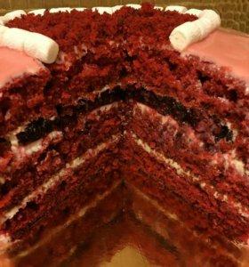 Торт Красный бархат (домашняя выпечка)
