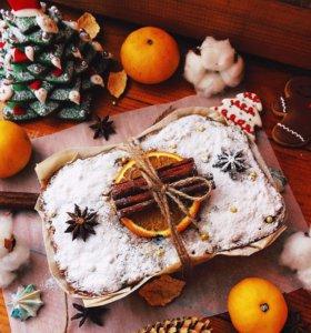 рождественский кекс, новогодний подарок,