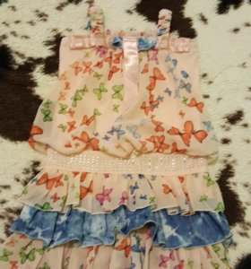 Платье летнее 3-4 года