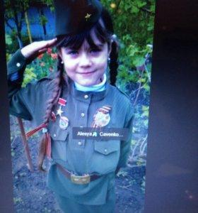 Военная форма для девочки 7-9