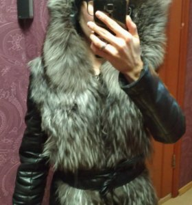 Меховая куртка-жилетка