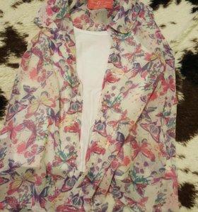 Майка + блузка-безрукавка