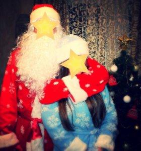 Костюм Деда Мороза и Снегурочки в прокат!!!