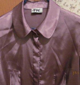 Красивая  блуза нежно сиреневого цвета р.50