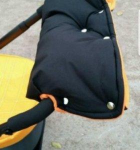 Муфта для коляски с двойным утеплителем