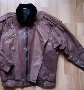 Куртка кожаная мужская (Польша)