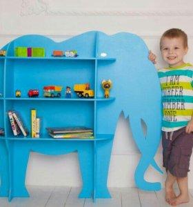 Стеллаж - Слон для Детской