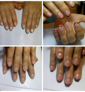 Наращивание ногтей, Шиллак, укрепление