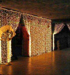 6х3м светодиодная штора гирлянда новогодняя