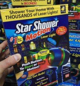 Лазерный звездный проектор star shower mothion