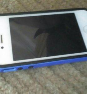 Айфон 4 на 8 Гб +Dexp e350