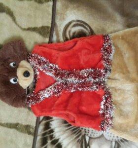 Новогодний костюм медведя3-6 лет
