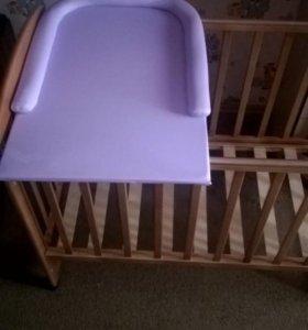 кровать детская с пеленальной доской