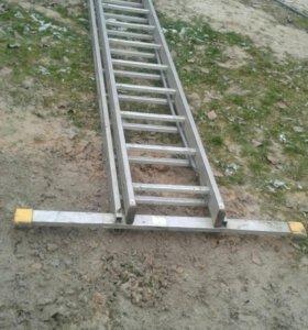 Лестница 8.70м алюминиевая
