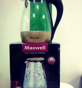 Электрический чайник Maxwell (cтекло)
