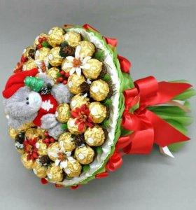 Букеты из конфет к новому году!!