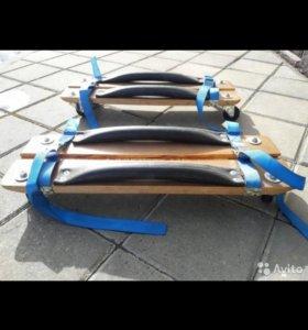 Тележки для снегохода с ремнями