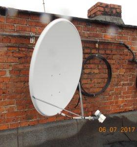 Антенна-тарелка для приема спутниковых каналов
