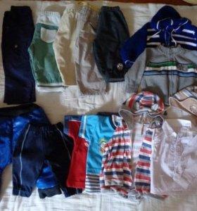 Пакет вещей на мальчика до году.