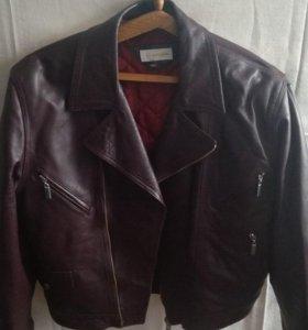 Кожаная подростковая куртка