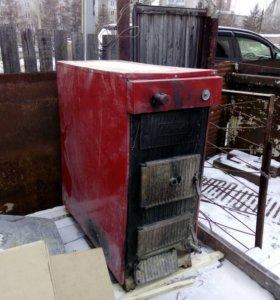 Котел на угле и дровах КЧМ-5-9-К Комби (80 кВт)