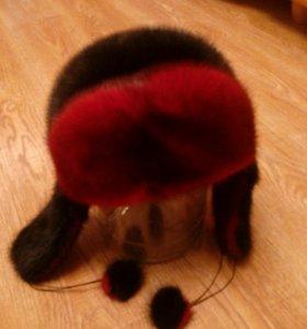 шуба мутон, шапка норка