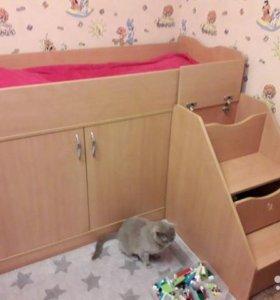 Кровать - чердак для ребенка 2 - 7 лет