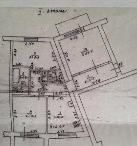 Квартира, 3 комнаты, 64.3 м²