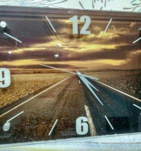 Часы стекло