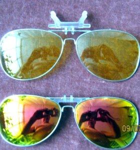 Поляризационные накладки на очки с диоптриями