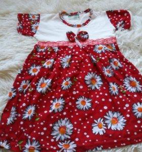 Новое платье для малышки до года