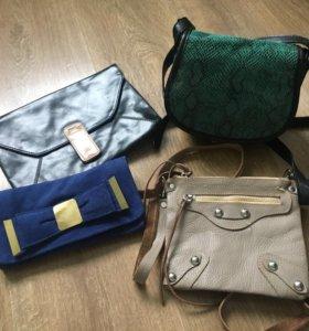 Клатч и сумки кросбоди.
