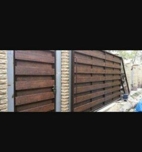 Откатные , распашные ворота.калитки