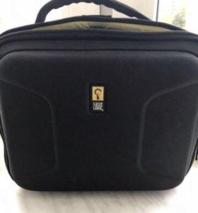 Новая чёрная сумка чехол для DVD плееров с aux