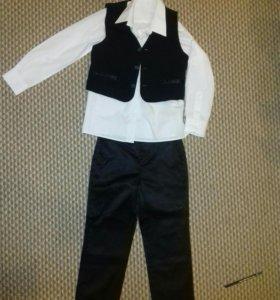 Классический костюм и рубашки 116-122
