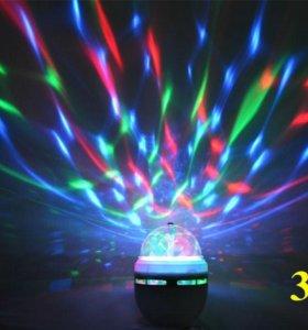 Светодиодная вращающаяся лампа 3 Вт Е 27