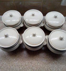 Керамические горшочки для приготовления еды